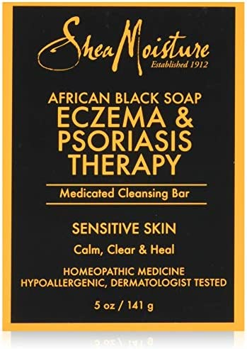 Shea Moisture Soap 5 Ounce Bar African Black Eczema Therapy 148ml 2 Pack product image