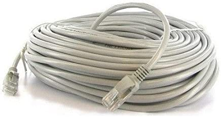 100 ft 30m cat5e cat5 rj45 ethernet lan network patch cable grey snagless  male