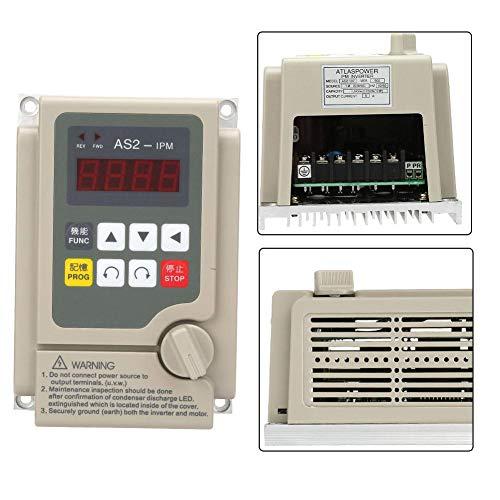 Convertidor de frecuencia variable, entrada monofásica/salida trifásica 220V Inversor de frecuencia variable para motor de 0.75KW