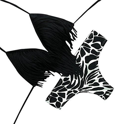 Fannyfuny_Bikinis Mujer Conjunto de Bikinis Bikini Mujer Push Up Bañadores Mujer Bikini Sexy Mujer Conjuntos Biquinis Bikini Mujer 2019, Mujer Push-Up Bikini Acolchado Bra Trajes de Baño Negro