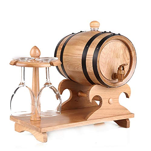 Jiamuxiangsi- Weinfass - Eichenfass Weinfass Weinfass Becherhalter Weinfass Weinfass ohne Galle Eichenfass - 1.5L, 3L, 5L - Weinfass Weine (Farbe : 3Lprimary Color)