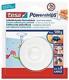 tesa Powerstrips® Deckenhaken, selbstklebend, wieder ablösbar, bis 0,5kg (2er Pack)
