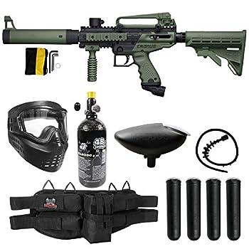 Maddog Tippmann Cronus Tactical Silver HPA Paintball Gun Marker Starter Package - Black/Olive