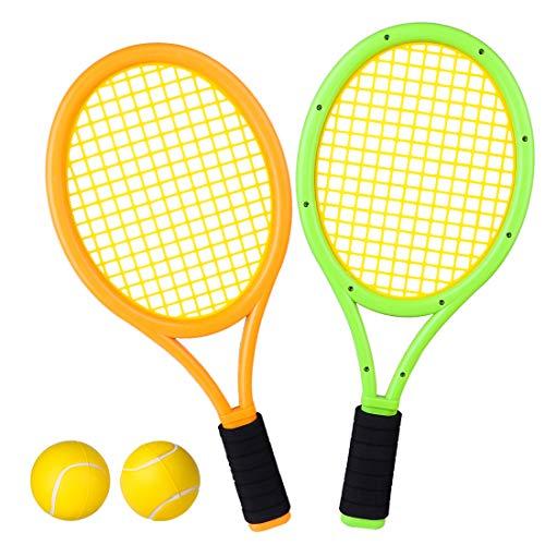 Macium Tennisschläger Kinder Set, Tennis Badminton Schläger Set Draussen Spielzeug für Kinder ab 3 4 5 6 Jahren