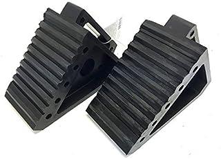 "MaxxHaul 2 pack 70472 Solid Rubber Heavy Duty Black Wheel Chock, 8"" Long x 4"".."