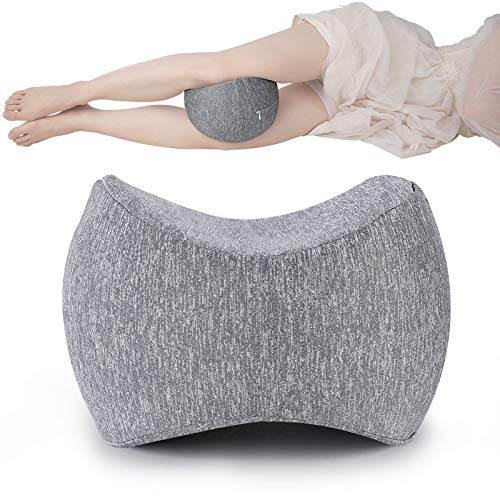 AprFairy Knee Pillow and Leg Positioner, Knee Relief Pillow for Side Sleepers, Leg Wedge Pillow - Pregnancy, Hip, Back Pain, Leg Pain,Memory Foam Wedge Contour,Washable Cover