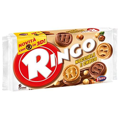 Pavesi - Ringo Nocciola e Choco - 3 confezioni da 6 porzioni [18 porzioni, 930 g]