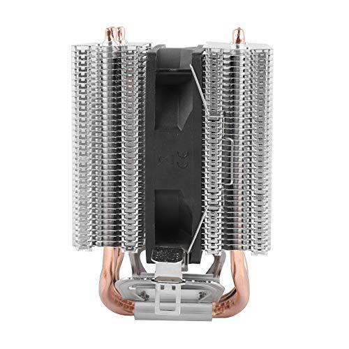 Vbestlife1 Disipador de Calor para computadora, 4 Tubos 22dBA, Ventilador de refrigeración por Agua para PC súper silencioso, radiador GPU de disipación de Calor de 2200 RPM, para LGA 1366, 1155775