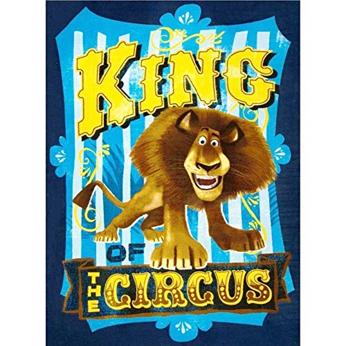Madagascar Alex The Lion Circus Fabric Panel (Great for Quilting, Sewing, Craft Projects, Quilt, Blanket and More) 35' x 44'