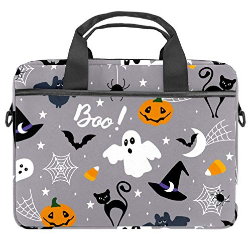 Protective Carry Case Luxury Computer Briefcase Suitable for 13.4'-14.5' Laptop with Display Cute Halloween