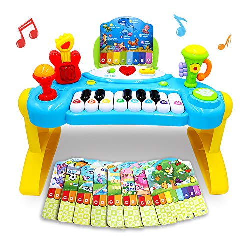 Mochoog Toy Piano for Toddlers, Piano for Kids with English Spanish Language Learning & Music Modes - Best Birthday Gifts for 2 3 4 5 Year Old Girls Boys – Educational Keyboard Musical Instrument Toys