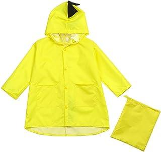 Nicircle レインコート カッパ 子供たち キッズ 学生 かわいい恐竜モデリング 梅雨 雨具 濡れない ボーイズ ガールズ 防水 着脱簡単 繰り返し 汚れ防止 人気 軽 通学 登校 屋外 お出かけ Kids raincoat (XL:高さ-140cm, イエロー)