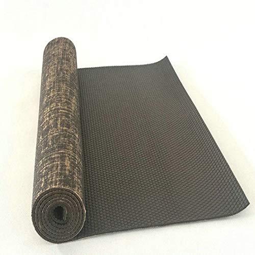 SMFL Bio Jute Naturkautschuk Jute PVC Yogamatte Natürliche Yogamatte Hohe Qualität Dicke 5Mm Leinenmaterial Yogamatte 173 * 61Cm * 5Mm 3 173Cm * 61Cm * 5Mm