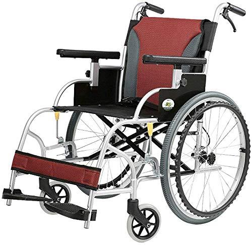 AYHa Rollstuhl Old Man Rollstuhl Folding Licht Ältere Aluminiumlegierung beweglicher Spielraum Trolley Licht Kleine Roller Sessel