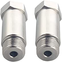 DEWHEL Defouler 2PCS Straight O2 Oxygen Sensor Fitting Bung M18 x 1.5 fits Header and Exhaust Pipes.