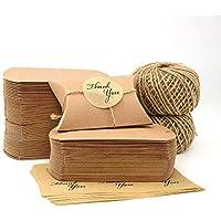 VEESUN Cajas de regalo pequeñas, 6x9cm Cajas de almohadas marrones Favor de la boda Caja de dulces de papel Kraft, para cumpleaños Fiesta de Navidad, 120 paquetes
