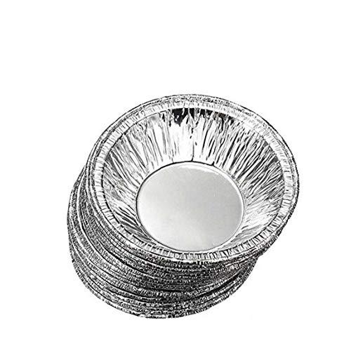 NIDONE Moho del Papel De Aluminio Pie Sartenes 230pcs Ronda Desechables para Hornear Torta De La Hornada Mollete Estaño Sartenes para La Torta, Quiché Y Tarta del Huevo