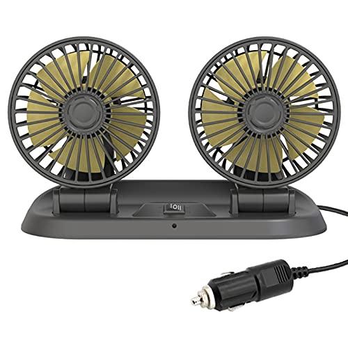 Mini ventilador para batería Ventilador portátil con bases flexibles Ventilador alimentado por USB Ajustable 2 velocidades Dorado y plateado Mini ventilador Ventiladores de automóvil para asiento