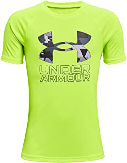 Under Armour Boys' Tech Hybrid Printed Fill Short-Sleeve T-Shirt