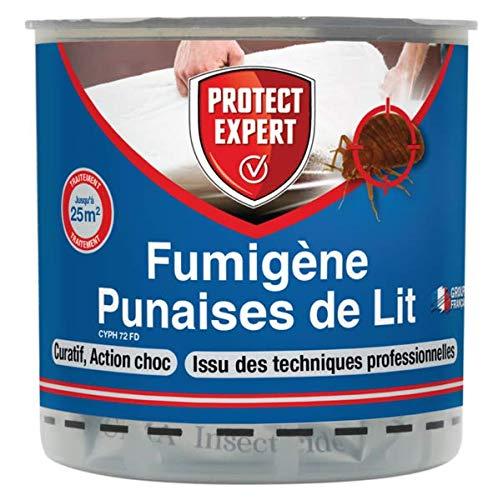 PROTECT EXPERT PUMIG10 Fumigènes Anti 10 G Elimine Les Larves, Punaises De Lit Et Acariens sans Dépôts Visibles Et Odeurs Persistantes, Puissant