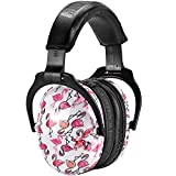 ZOHAN 030 Ear Defenders for Kids, Upgraded Children's Hearing Protect EarMuffs, Noise Reduction for Young Teens Have Sensory Issues and Autism, Ideal for Fireworks, Concerts, Plane - Flamingo