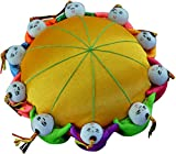 ChezMax Handmade Needle Pin Cushion Oriental Pin Holder DIY Gift for Foreign Affairs Baizi Doll Needle Stick Bag with 10 Kids Retro Cloth Art Home Furnishing Decoration (Golden)