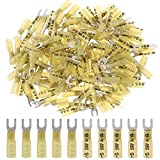 Hilitchi 50pcs Nylon Insulated Heat Shrink Butt Fork Wire Electrical Crimp Terminal Connector (12-10AWG, 10)
