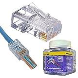 Platinum Tools 202003J EZ-RJ45 CAT5E Connector,...
