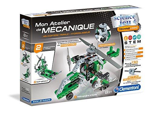 Clementoni-Mon Atelier di Meccanico-Elicottero & Idropulitore, 52217