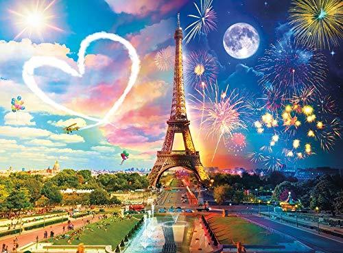 Xevkkf 5D Pintura Diamante_Torre Eiffel 30X40Cm_Bordado Kit De Punto De Cruz Rhinestone Decoración para El Hogar Artesanía