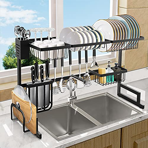 Over The Sink Dish Drying Rack, Length (33.4-41.3