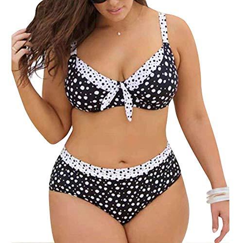 Dehots Sexy Damen Bikini Große Größen Polka Punkt Set Bademode Badeanzüge Bikinis für Frauen Mädchen Bandeau Push Up
