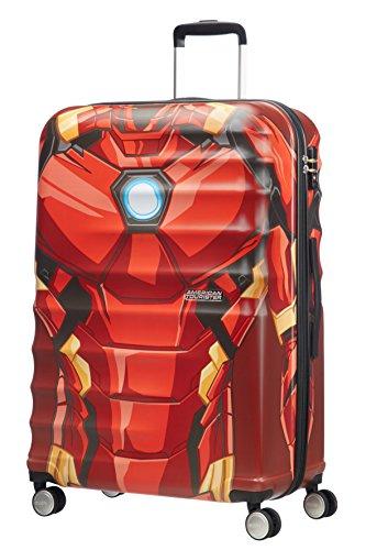American Tourister Disney Wavebreaker Marvel - Maleta, Cuatro Ruedas, Multicolor (Iron Man Close-Up), S (55cm-36L)