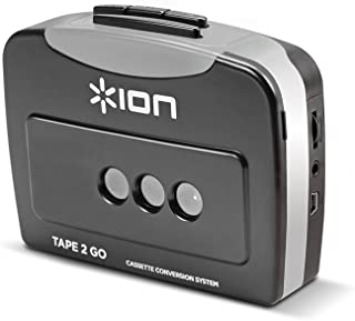 ION Audio Tape 2 Go | Cassette Player and Digital Converter with USB Cable