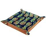 Bandeja de almacenamiento de escritorio con diseño de piña, color azul