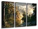Wandbild - Der Herr der Ringe, 97 x 62 cm, Holzdruck - XXL