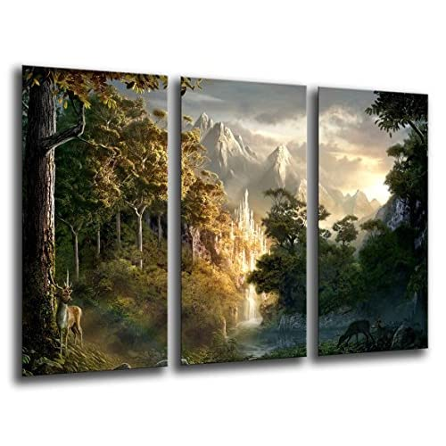 Quadro fotografico de Il Signore degli Anelli. Dimensioni totali: 97 x 62 cm XXL.