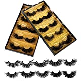 25mm Mink Lashes, Ruairie 3D Mink Eyelashes Long Dramatic Volume Mink False Eyelashes 10 Styles