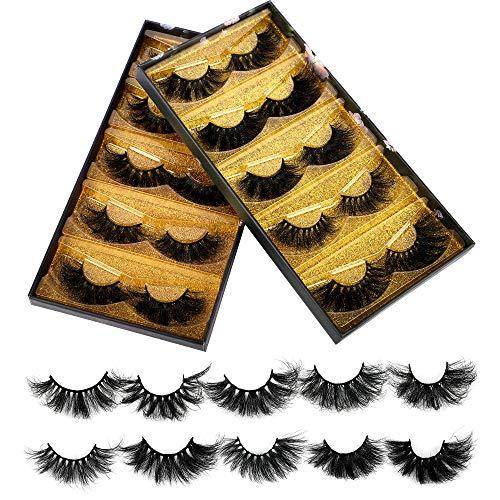 25mm Mink Lashes, Ruairie 3D Mink Eyelashes Long Dramatic Volume Mink False Eyelashes 10 Styles