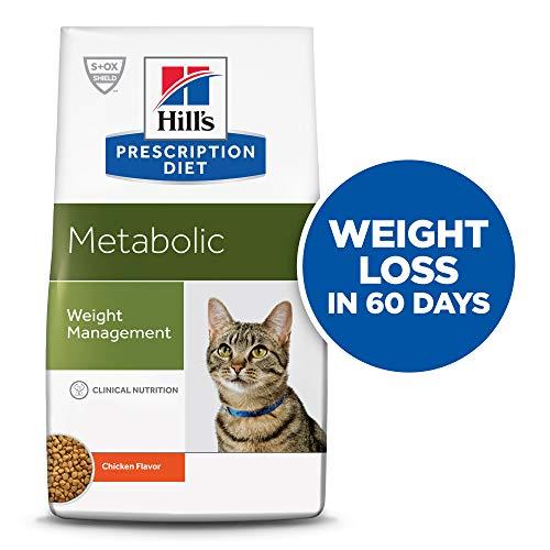 Hill's Prescription Diet Metabolic Weight Management Chicken Flavor Dry Cat Food, 4 lb bag
