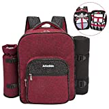 Picnic Backpack for 4, Stylish All-in-One Portable Picnic Bag with Complete Cutlery Set
