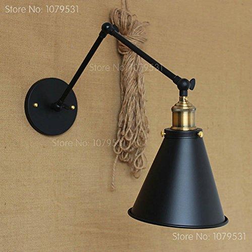 5151BuyWorld Retro Twee Swing Arm wandlamp voor slaapkamer 's nachts verstelbare bergen Abajur Para Quarto De Cabeceira