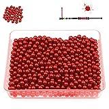 Predator Paintball Kugeln, Cal. 0.40 für Blasrohr und Paintball Markierer, Premium Paintballs + 200, 500, 1000, 3000 Stück + Farben (Rot, 500)