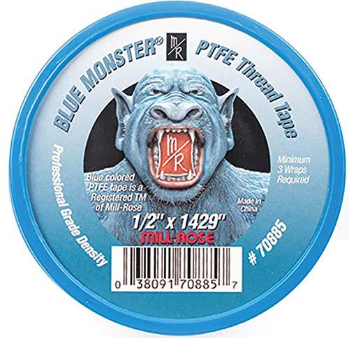 2 Pack- Milrose 70885 Blue Monster 1/2' x 1429' Blue Teflon Tape
