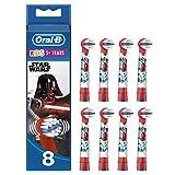 Livraison simplifiée: 8 brossettes Oral-B Star Wars dans un format spécial boîte aux lettres Des brossettes rondes uniques pour brosses à dents électriques, spécifiquement conçues pour les enfants Offre une expérience de brossage tout en douceur Tai...