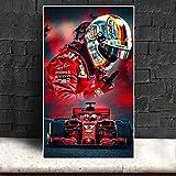 YYAYA.DS Leinwand Poster Bilder F1 Red Racer Kimi
