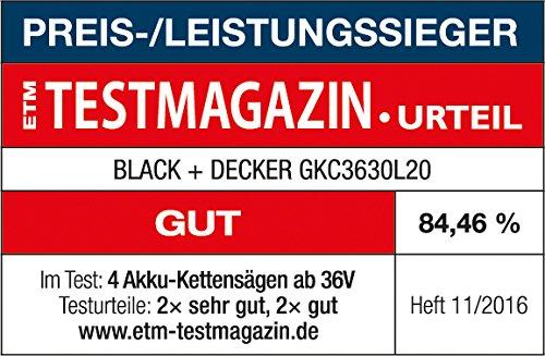 Black+Decker Akku Kettensäge GKC3630L20 - 17