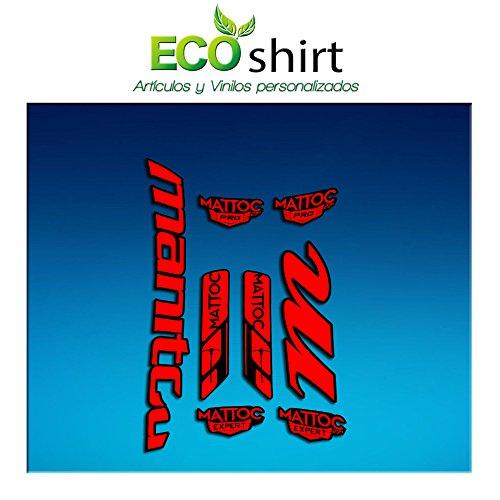 Ecoshirt 25-3SWH-66E6 sticker Fork Manitou Mattoc Pro Expert Am182 sticker decals sticker vork, rood