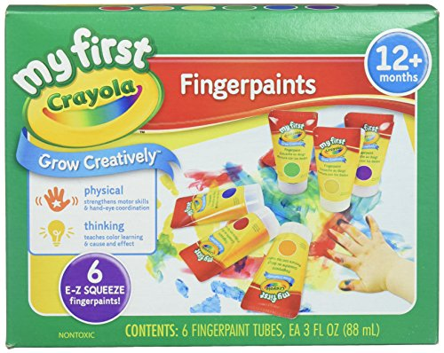 Crayola; My First Fingerpaint Kit; Art Tools; 6 Different Colored Tubes of...