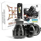 HIKARI Ultra H4 9003 LED Bulbs, Prime ZES LED, High Lumens LED Conversion Kit, HB2 Halogen bulbs Replacement, Canbus Ready, 6000K Cool White, Foglight